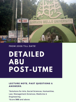 download abu post utme past questions