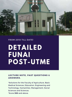 download funai post utme past questions