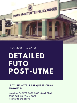 futo post utme past questions