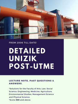 download unizik post utme past questions