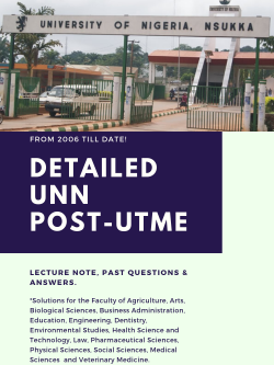 download unn post utme past questions